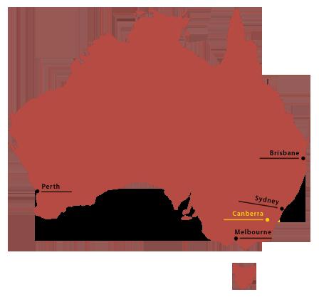 Australienkarte vereinfacht - Australienreisen anders